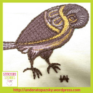 Shy Bird Shibden Hall by Alex Hall Stitchery Stories Textile Art Podcast Guest