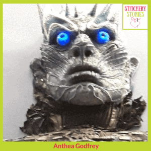 The White Walker project Anthea Godfrey Stitchery Stories Textile Art Podcast Guest