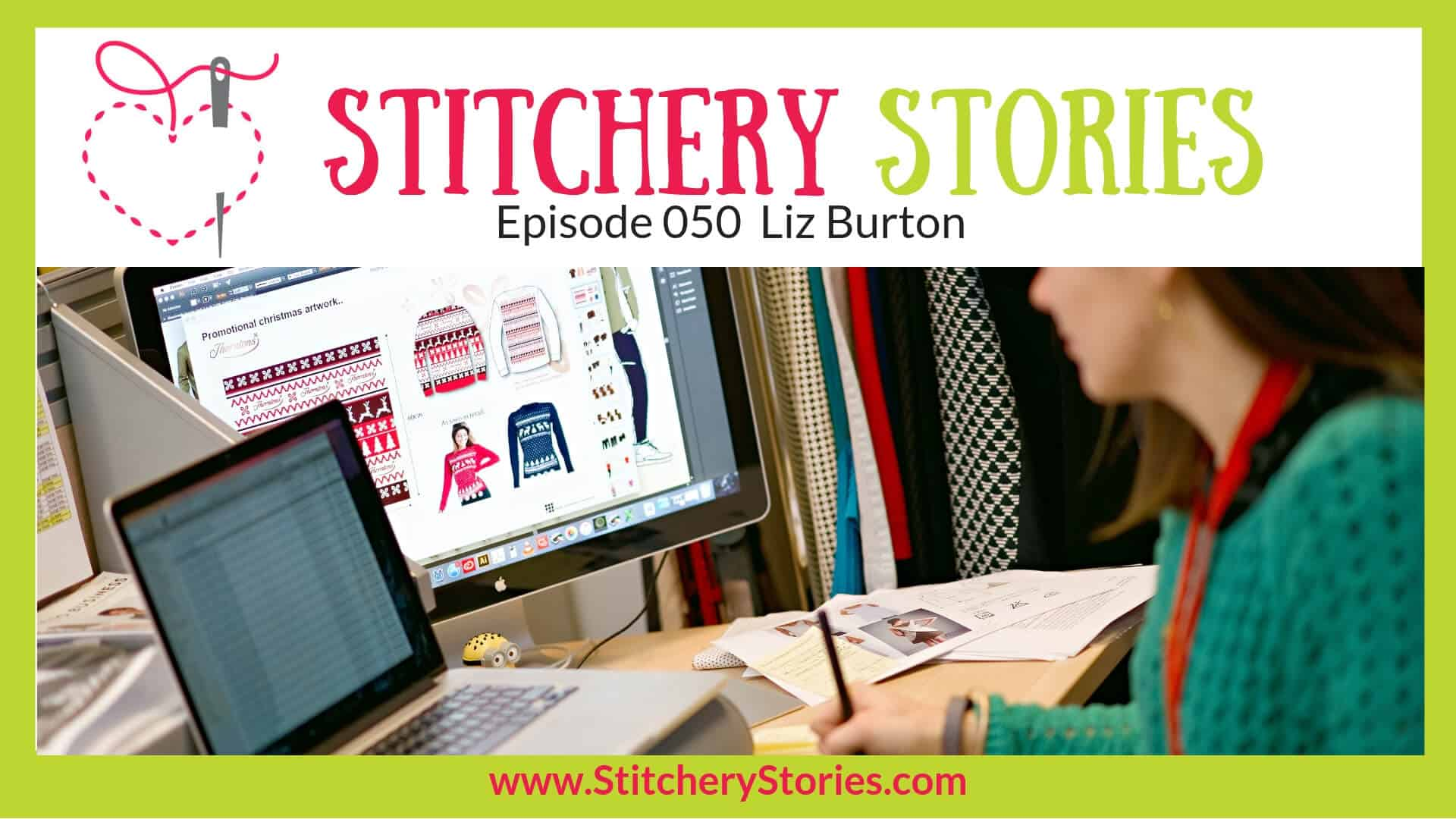 Liz Burton Stitchery Stories Textile Art Podcast Wide Art