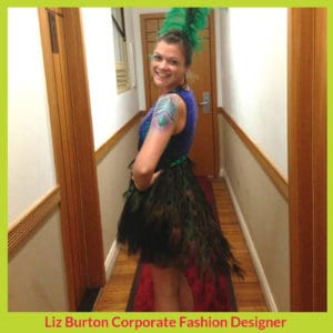 Peacock dress for Rio Carnival_ Liz Burton Stitchery Stories Podcast Guest