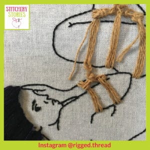 Rigged Thread hoop 3 Stitchery Stories Podcast Guest