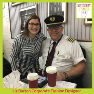 Virgin Atlantic pilot in Costa Coffee_ Liz Burton Stitchery Stories Podcast Guest