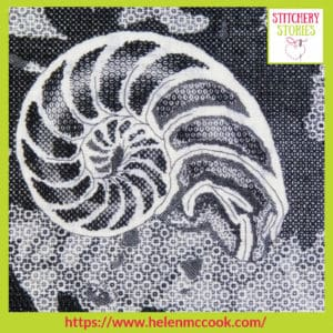 Blackwork by Helen McCook Stitchery Stories Embroidery Podcast Guest