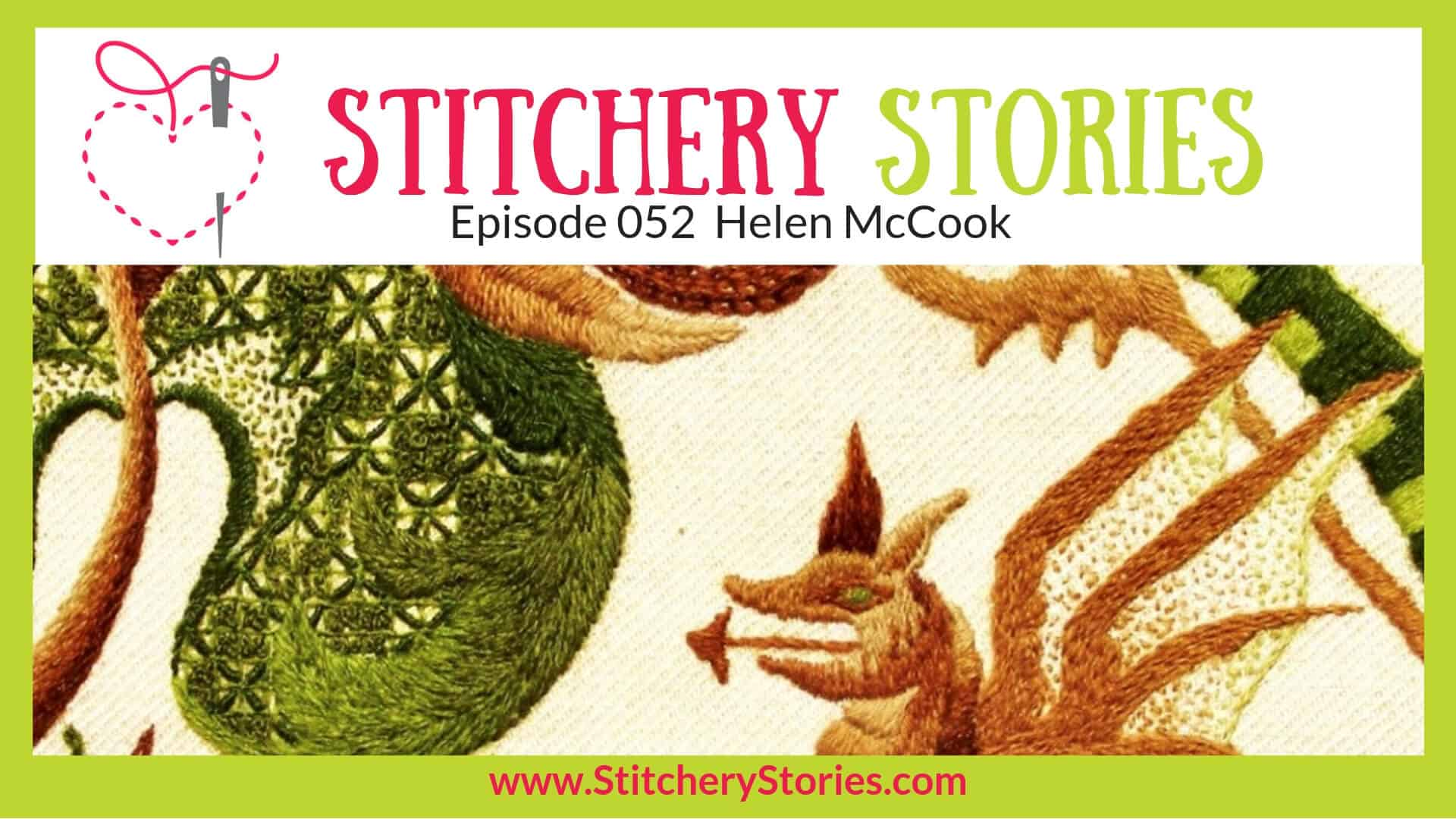 Helen McCook Stitchery Stories Textile Art Podcast Wide Art