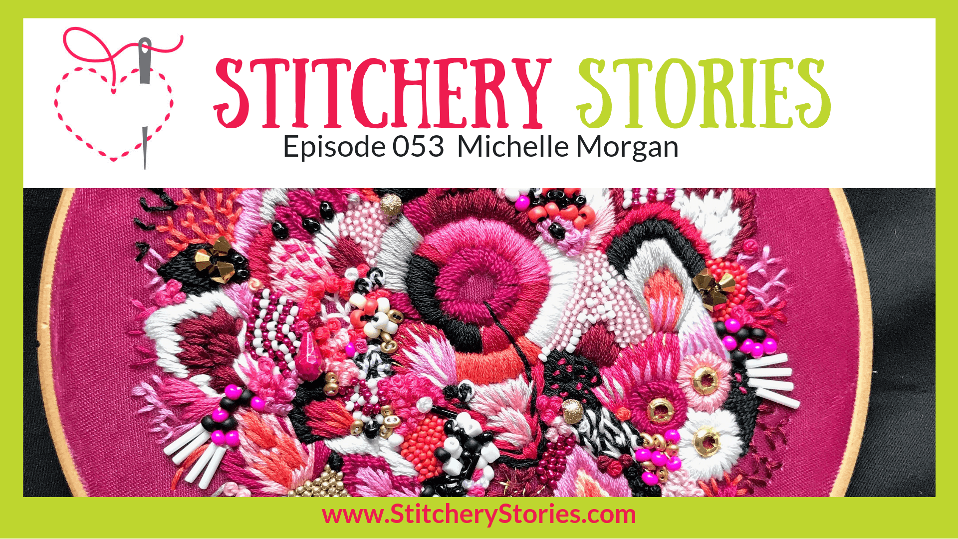 Michelle Morgan Stitchery Stories Textile Art Podcast Wide Art