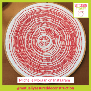 Tree Rings by Michelle Morgan Stitchery Stories Embroidery Podcast Guest