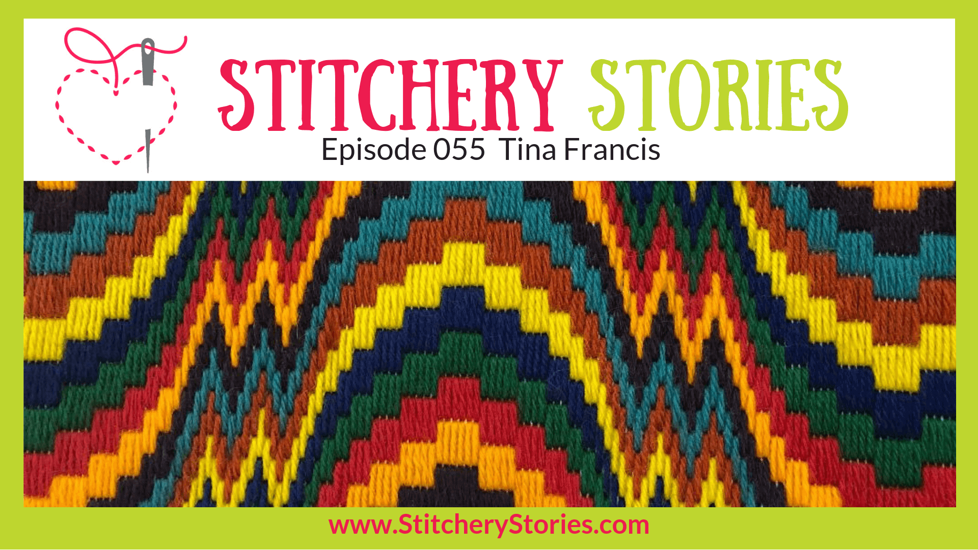 Tina Francis Stitchery Stories Textile Art Podcast Wide Art