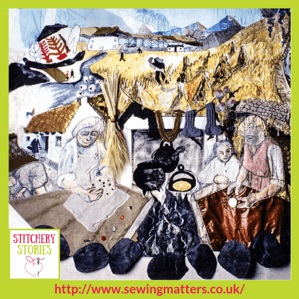 Mull Community Project Clare Hunter Stitchery Stories textile Art Podcast Guest