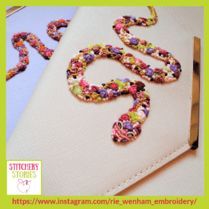 Snake Clutch Bags by Rie Wenham Stitchery Stories embroidery Podcast Guest
