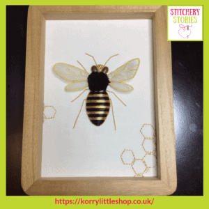 Bee Goldwork Kit by Loetitia Gibier Stitchery Stories embroidery Podcast Guest