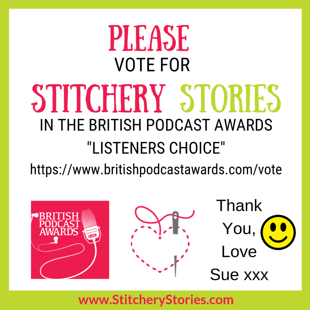 british podcast awards vote for Stitchery Stories