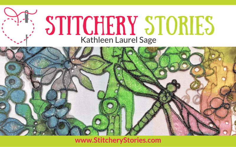 Kathleen Laurel Sage Stitchery Stories Textile Art Podcast Wide Art