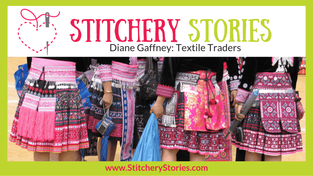 Diane Gaffney Stitchery Stories Textile Art Podcast Wide Art