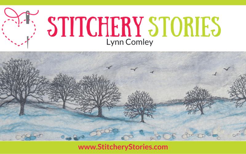 Lynn Comley Stitchery Stories Textile Art Podcast Wide Art