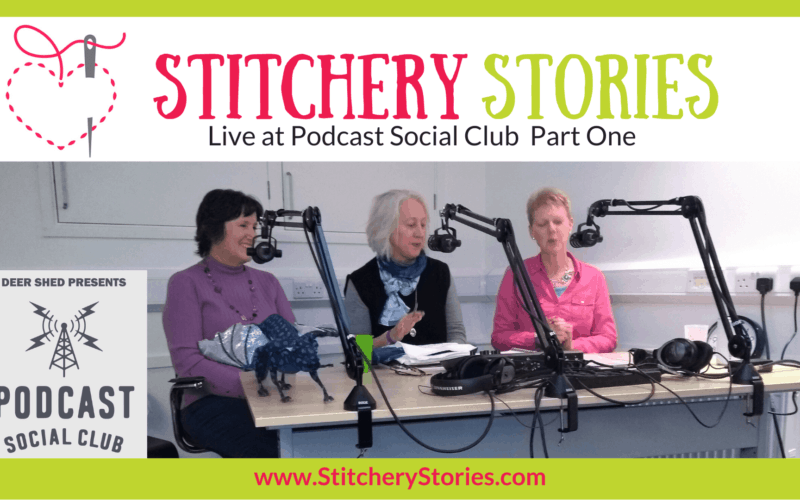 Stitchery Stories Live at Podcast Social Club Wide Art