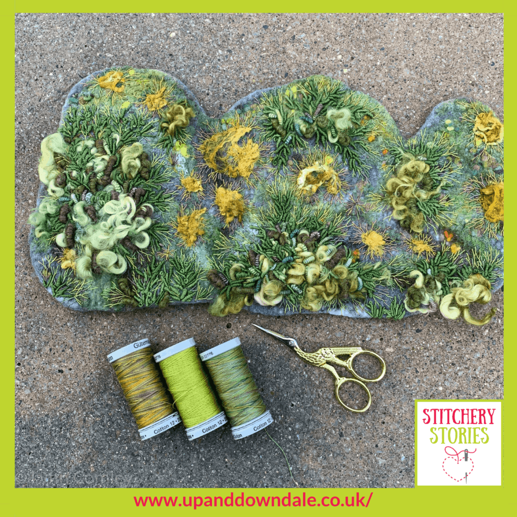 lichen and mosses Lynn Comley Stitchery Stories podcast