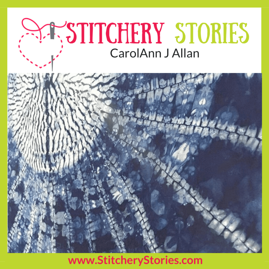 CarolAnn Allan Stitchery Stories Podcast Episode Art