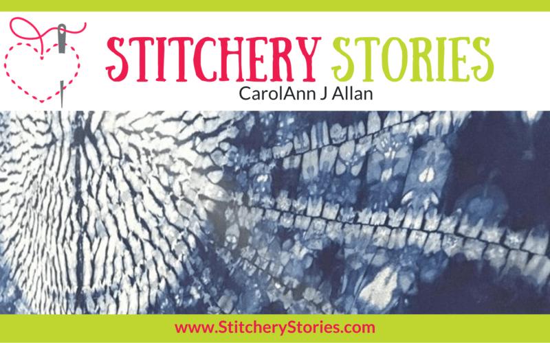 CarolAnn J Allan guest Stitchery Stories textile art podcast Wide Art