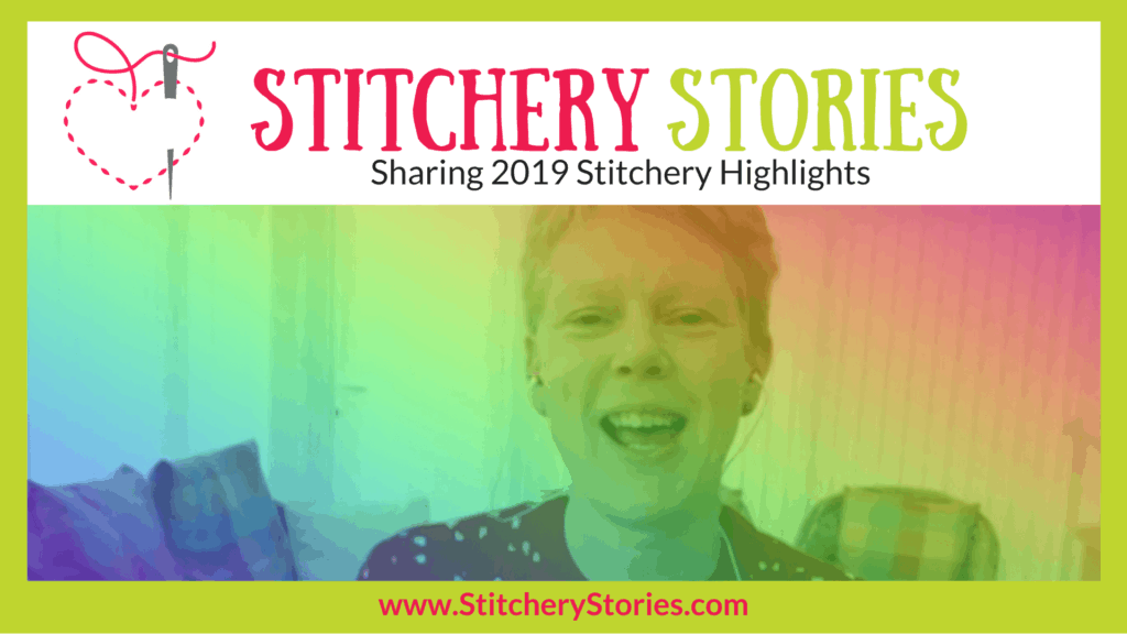 Sharing 2019 Stitchery Stories textile art podcast wide art