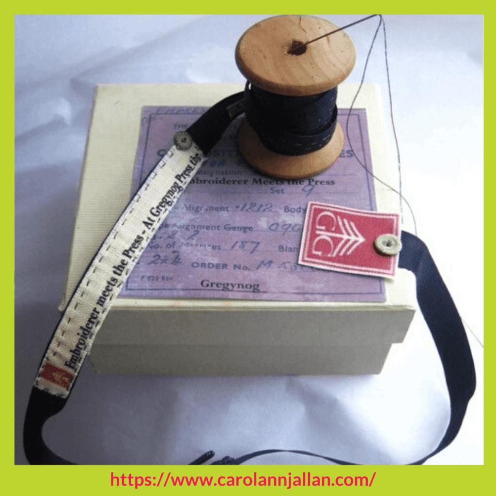 hand made book CarolAnn J Allan Stitchery Stories textile art Podcast
