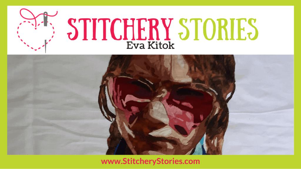 Eva Kitok guest Stitchery Stories textile art podcast Wide Art