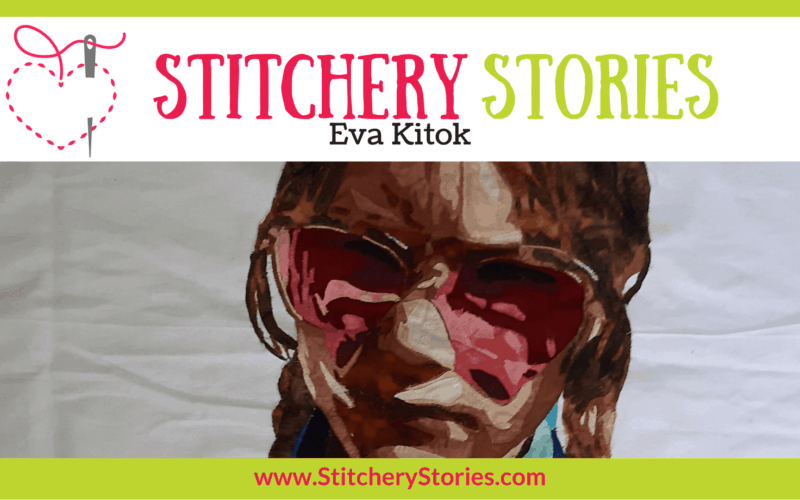 Eva Kitok guest Stitchery Stories textile art podcast Wide Art