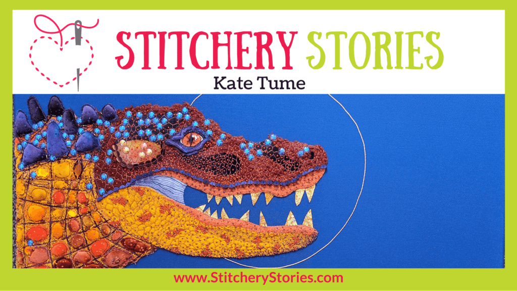 Kate Tume guest Stitchery Stories textile art podcast Wide Art