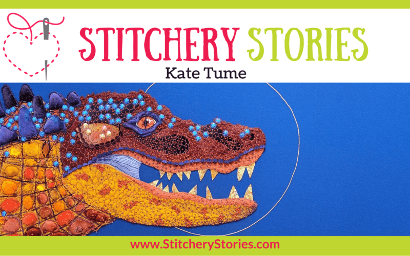 Kate Tume guest Stitchery Stories textile art podcast Wide Art