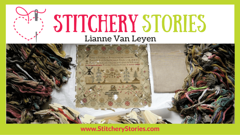 Lianne Van Leyen guest Stitchery Stories textile art podcast Wide Art