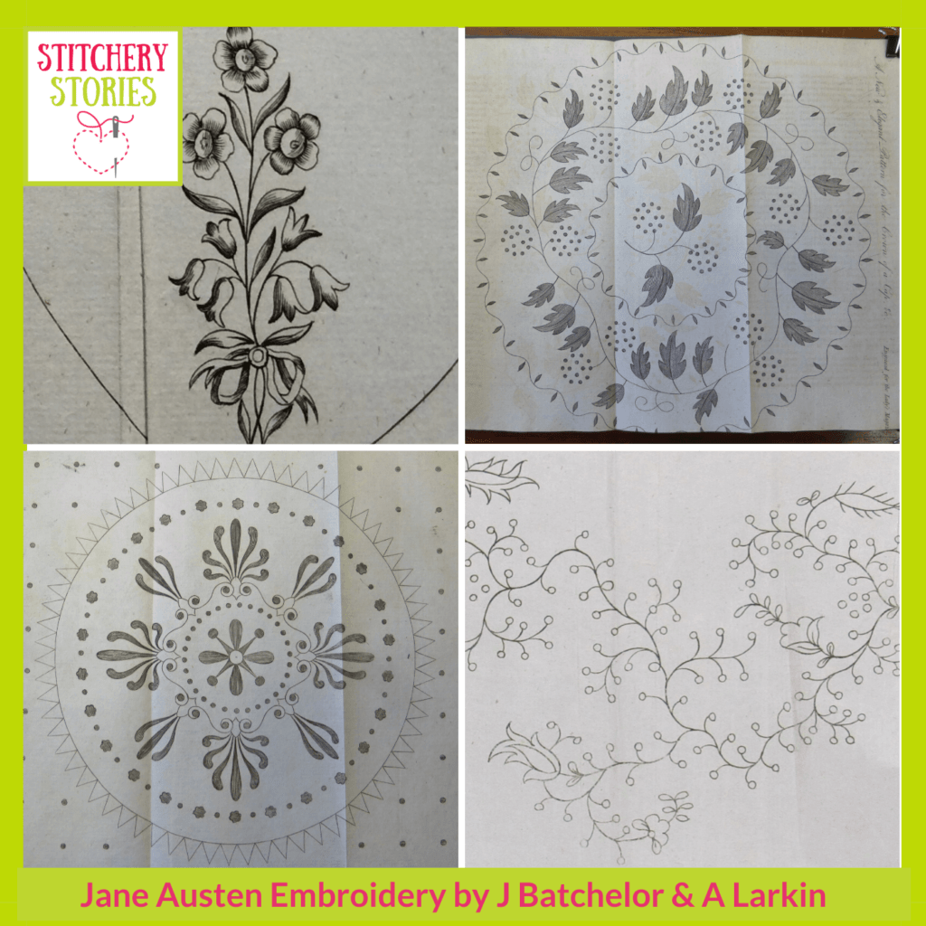 patterns from The Ladys Magazine guest Stitchery Stories embroidery Podcast