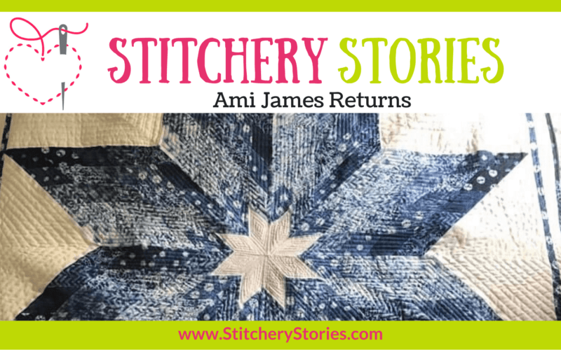 Ami James Returns guest Stitchery Stories textile art podcast Wide Art