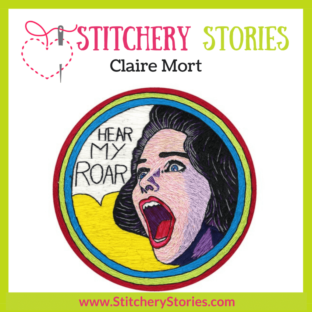Claire Mort Stitchery Stories Podcast Episode Art
