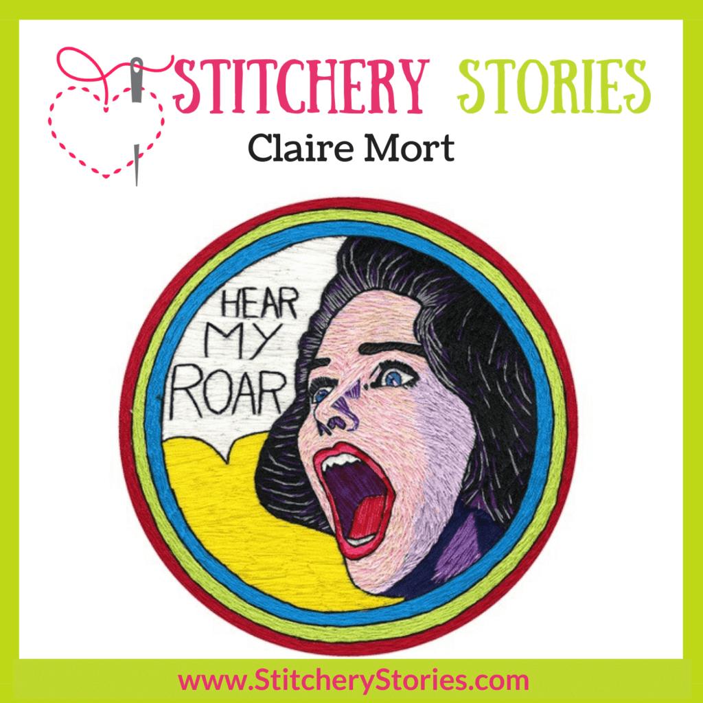 Claire Mort Stitchery Stories Podcast Episode Art