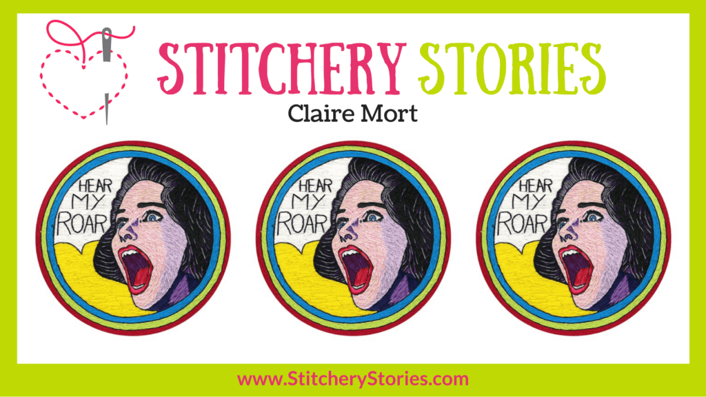Claire Mort guest Stitchery Stories embroidery podcast Wide Art
