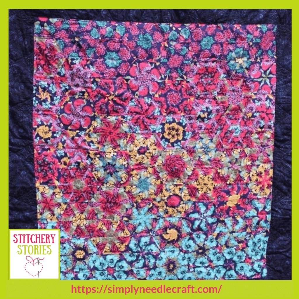 Floral quilt Ami James guest Stitchery Stories textile art podcast