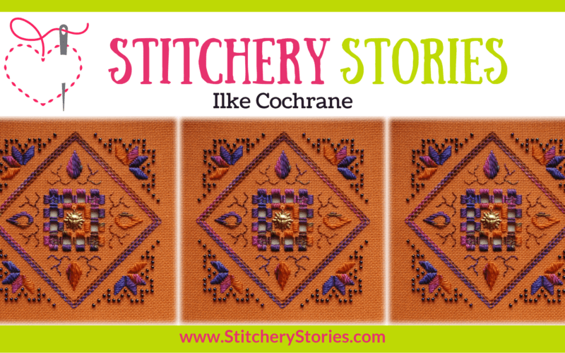 Ilke Cochrane guest Stitchery Stories embroidery podcast Wide Art