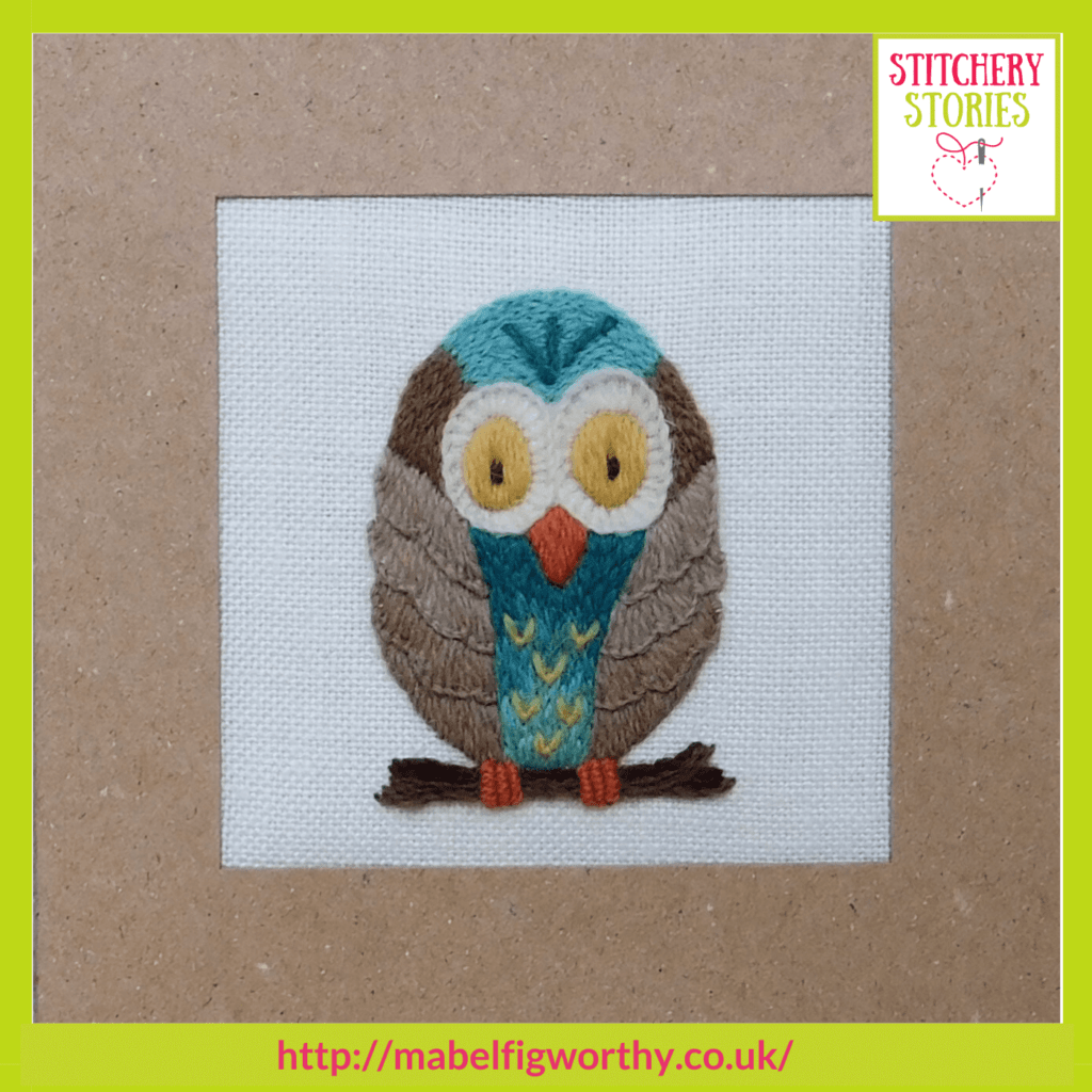 Owl design Ilke Cochrane guest Stitchery Stories textile art podcast