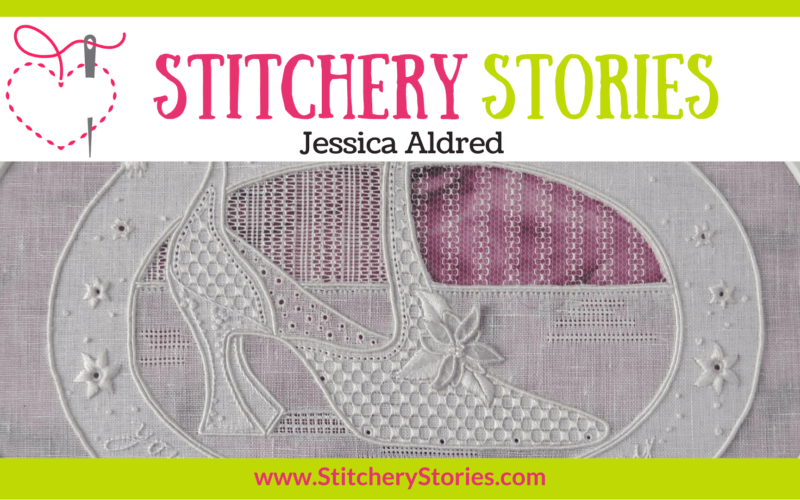 Jessica Aldred guest Stitchery Stories embroidery podcast Wide Art