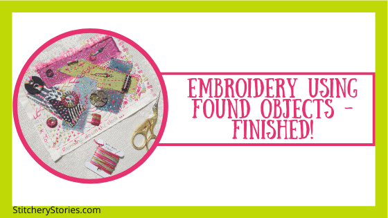 found objects embroidery finished blog header