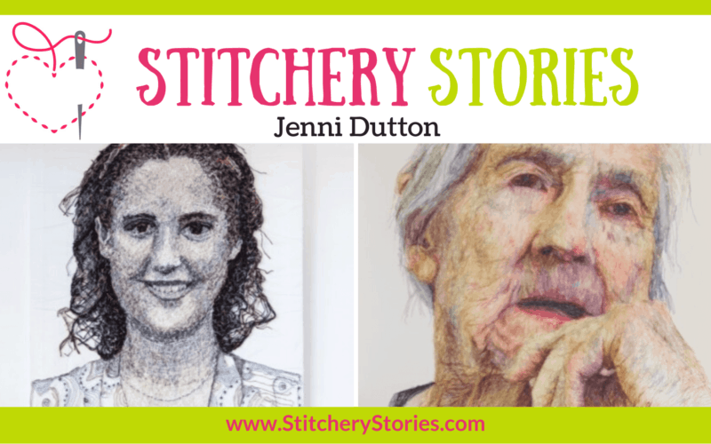 Jenni Dutton guest Stitchery Stories textile art podcast Wide Art