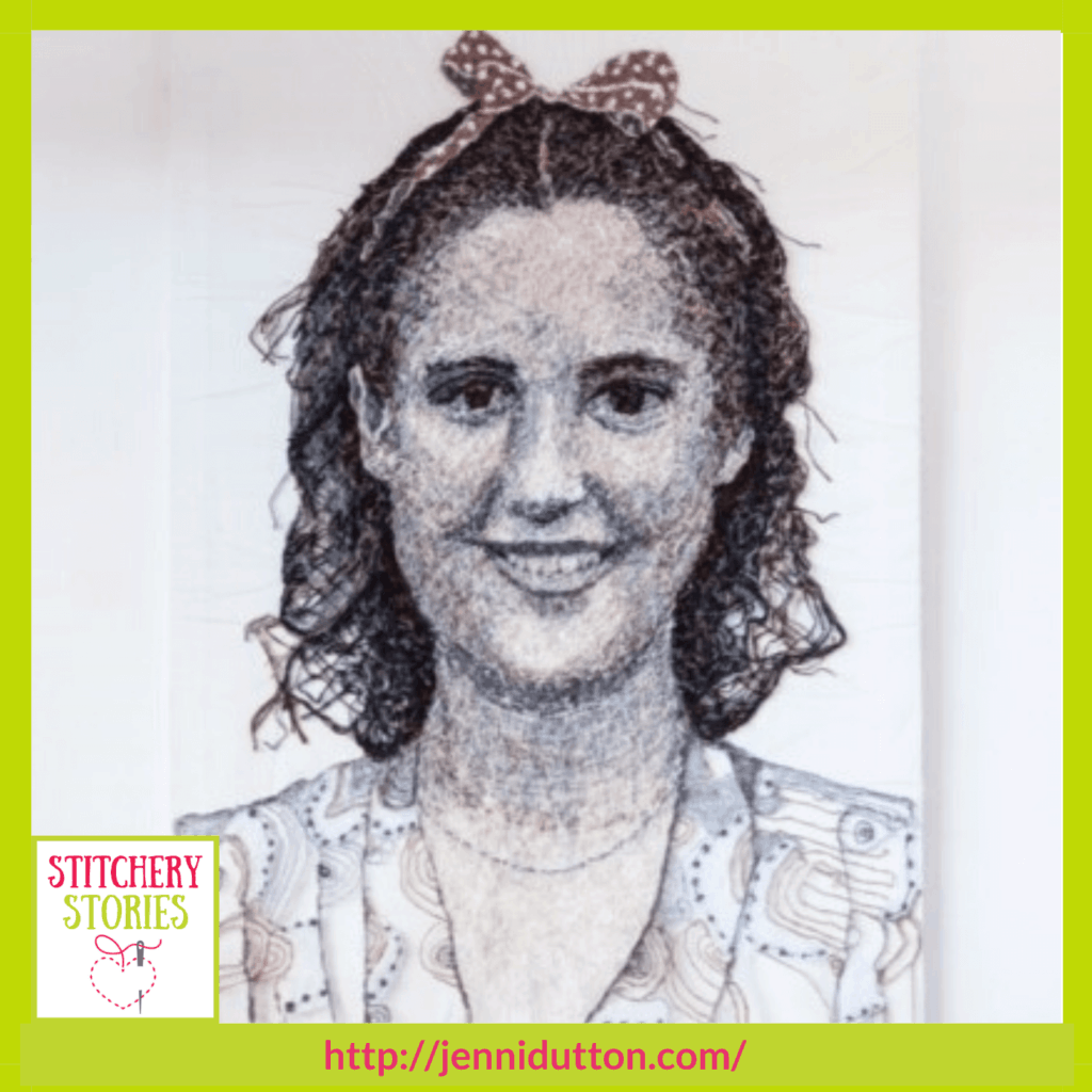 mum as a young woman by Jenni Dutton guest Stitchery Stories textile art podcast