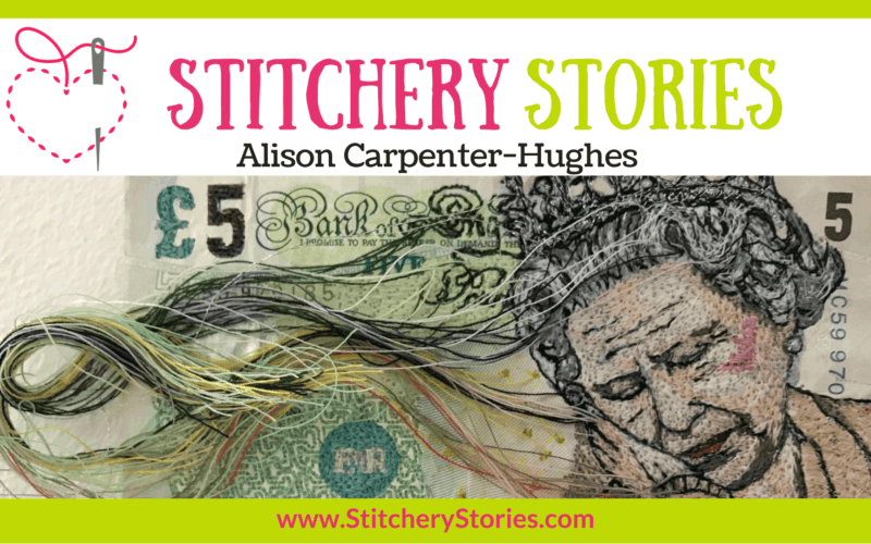 Alison Carpenter-Hughes guest Stitchery Stories textile art podcast Wide Art
