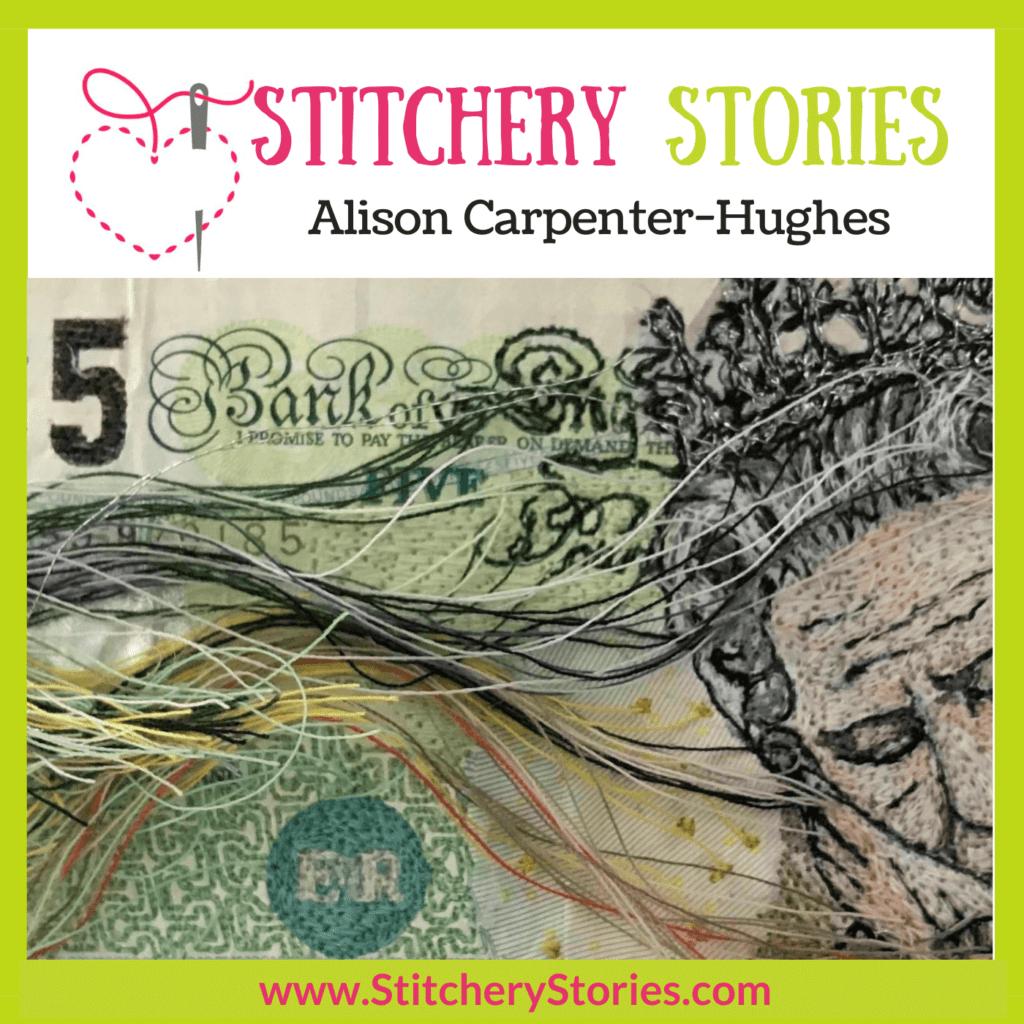 Alison Carpenter-Hughes guest Stitchery Stories Podcast Episode Art