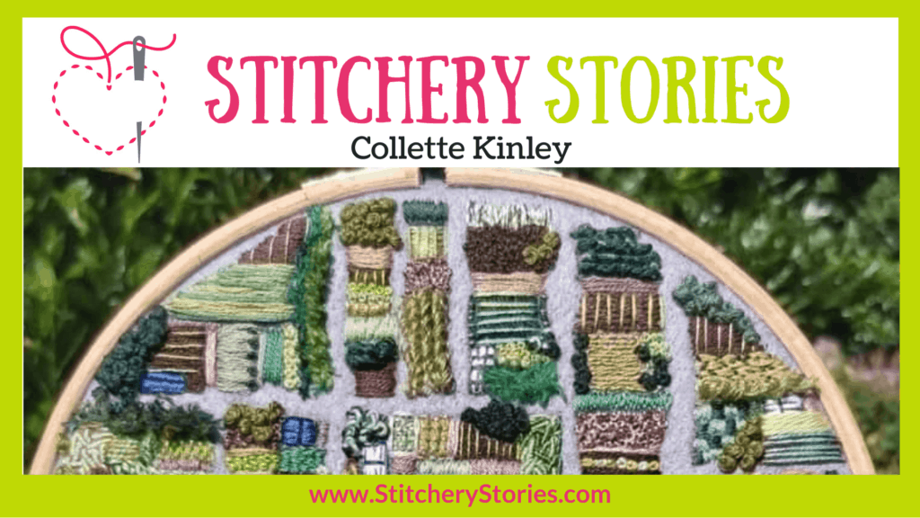 Collette Kinley guest Stitchery Stories textile art podcast Wide Art