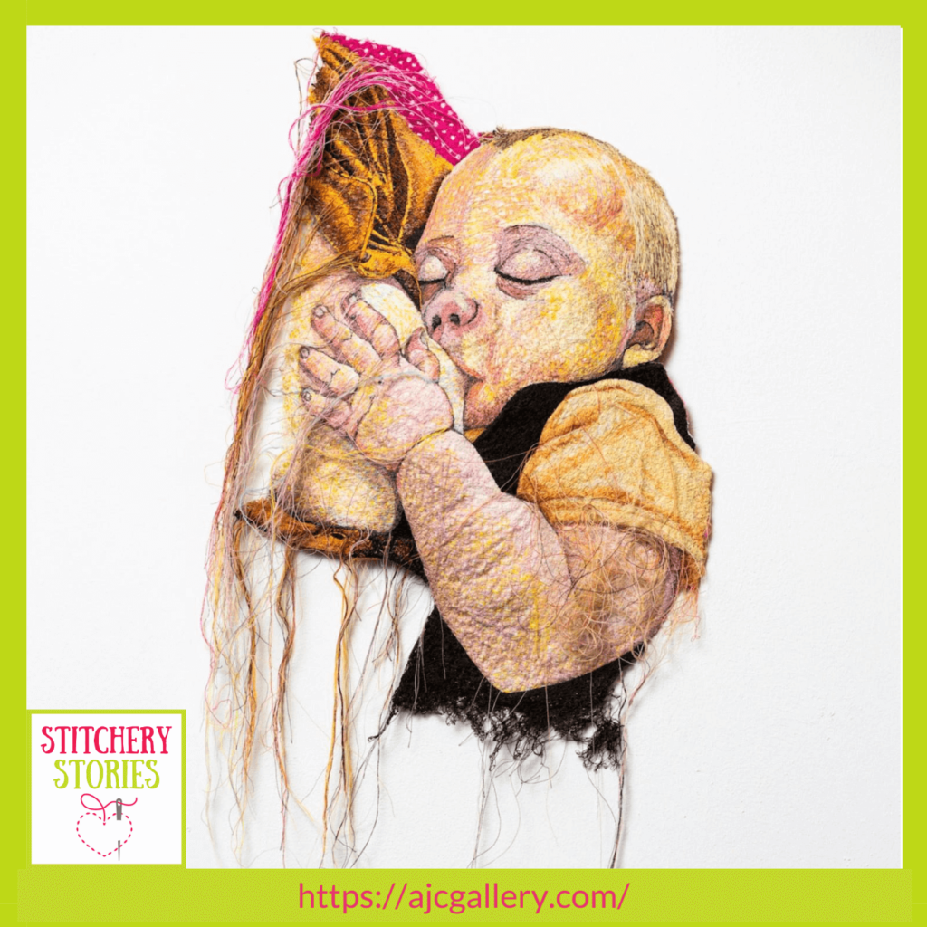 Little Connie by Alison Carpenter-Hughes guest Stitchery Stories textile art podcast