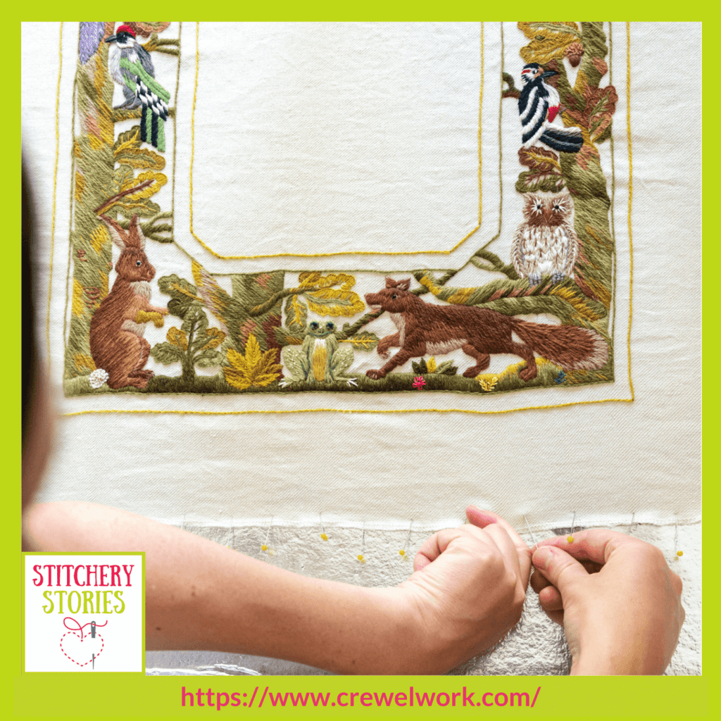 Animal Frame by Phillipa Turnbull guest Stitchery Stories embroidery podcast