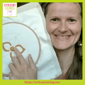 Erika Maizi Learning Goldwork guest Stitchery Stories embroidery podcast