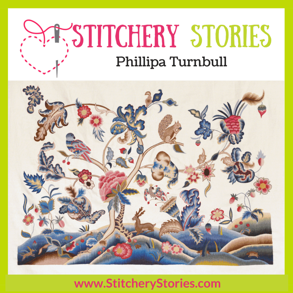 Phillipa Turnbull guest Stitchery Stories Podcast Episode Art