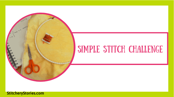 simple embroidery stitch challenge aug2020