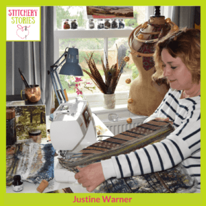 Justine Warner Stitchery Stories Podcast Guest